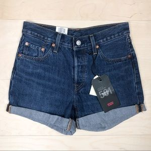 NWT Levi's 501 Mid Rise Shorts Rolled Hems